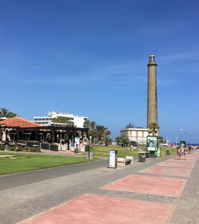 Boulevard de Meloneras y Faro de Maspalomas