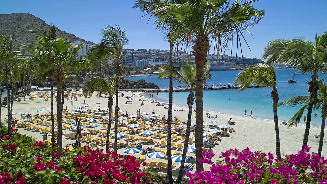 Playa de Anfi de Mar, en Mogán. Gran Canaria