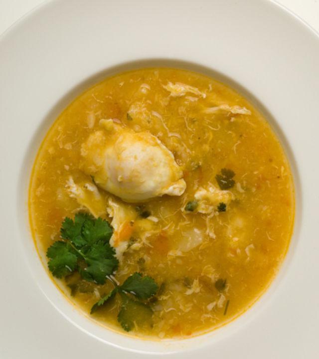 A potato broth dish