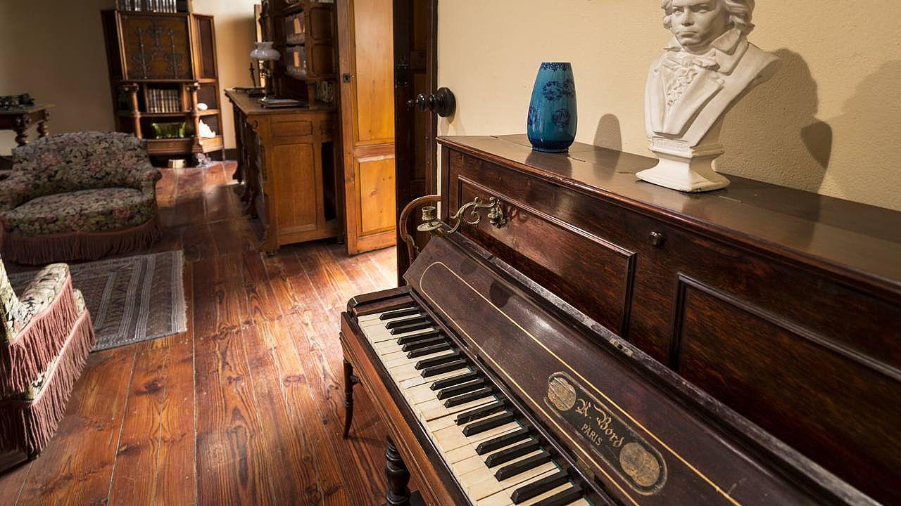 Piano de Beethoven en el interior de la Casa Museo Pérez Galdós