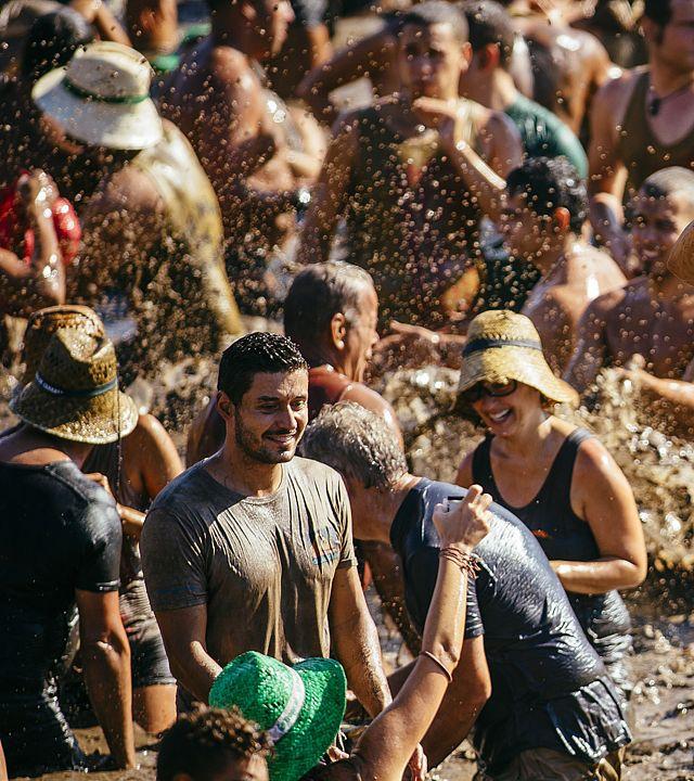 Celebration of the Fiesta of El Charco, at La Aldea de San Nicolás, Gran Canaria