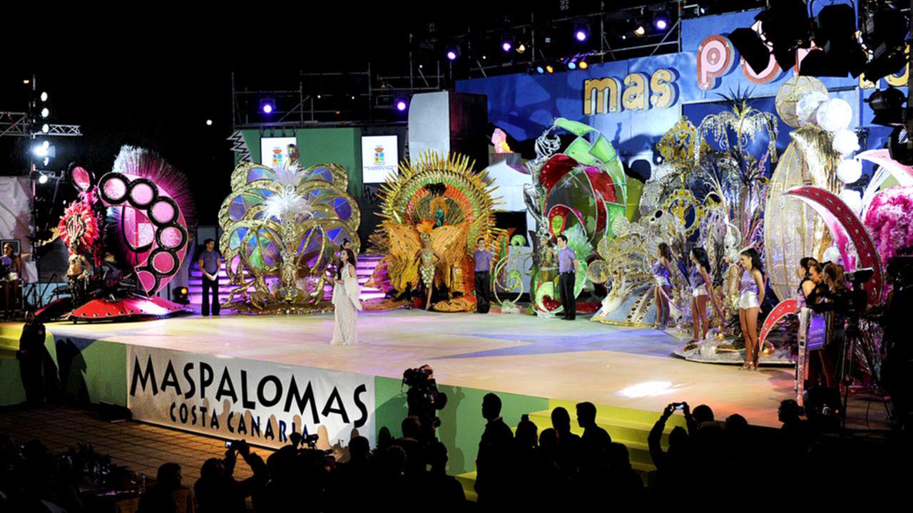 Escenario del Carnaval Internacional de Maspalomas, en una edición anterior del evento