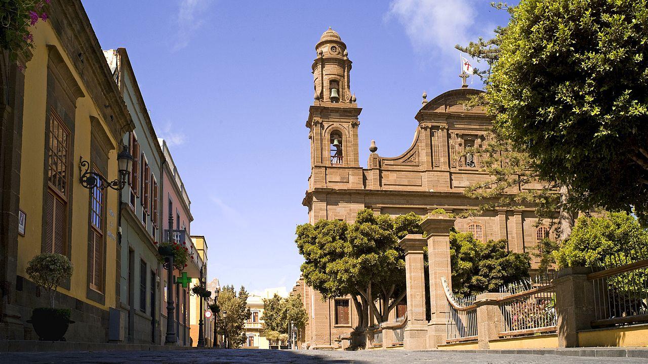 Die Kirche Santiago Apóstol, Gáldar, Gran Canaria