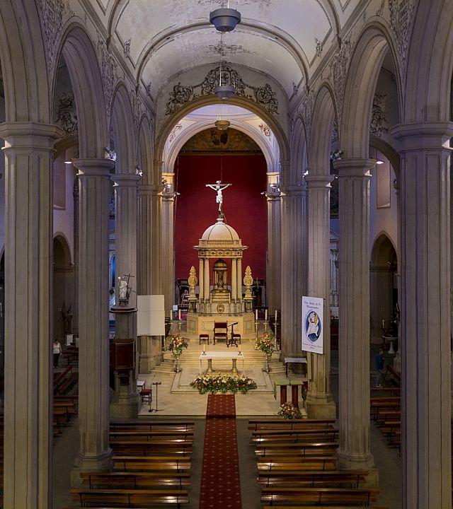 Innenansicht der Kirche Santiago Apóstol in Gáldar