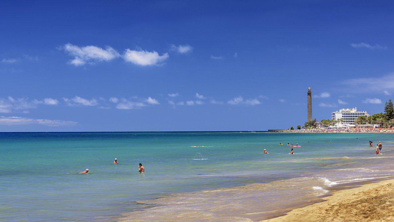 Maspalomas beach, on the island of Gran Canaria