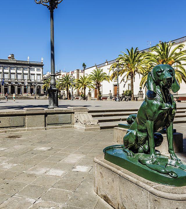 Plaza de Santa Ana, in Vegueta, Las Palmas de Gran Canaria