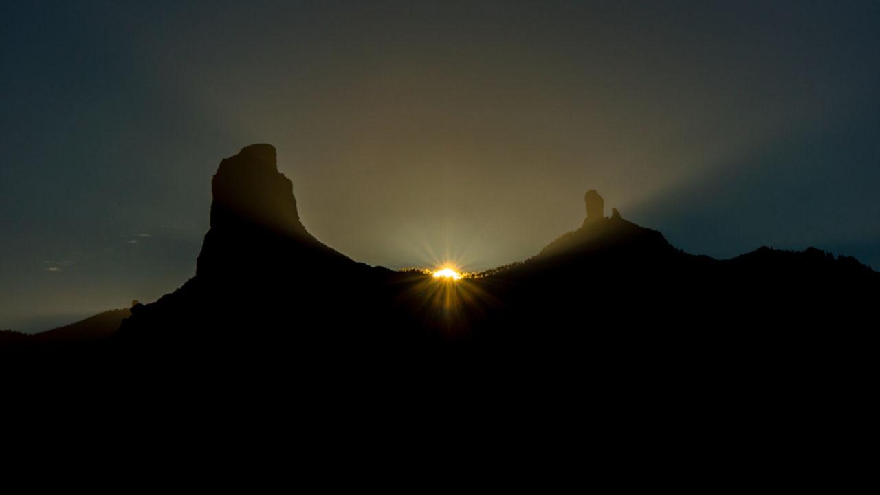 Solsticio de Invierno. Roque Bentayga y Roque Nublo