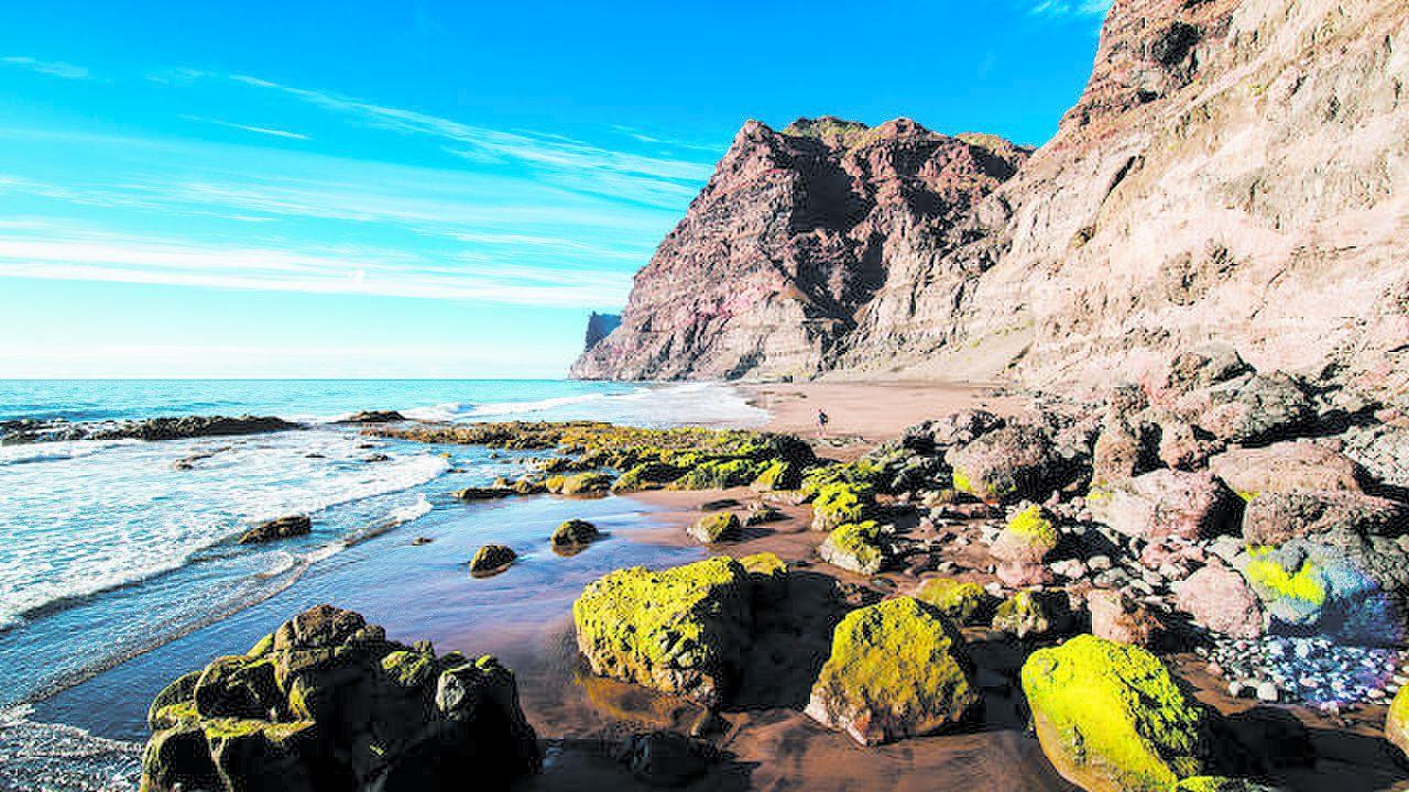Güi Güi beach, in La Aldea de San Nicolás