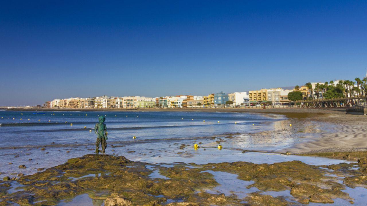 Arinaga beach, in the municipality of Agüimes