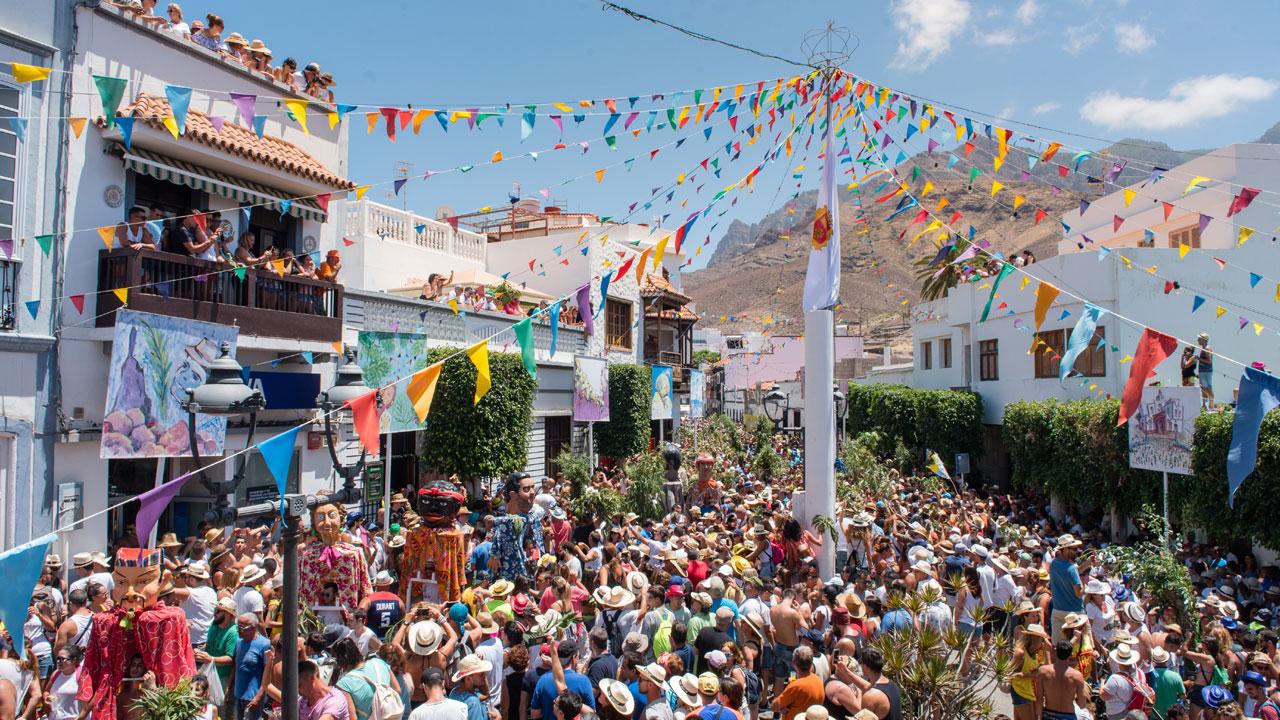 """Die Festlichkeiten der """"Fiesta de la Rama"""" in Agaete, Gran Canaria"""
