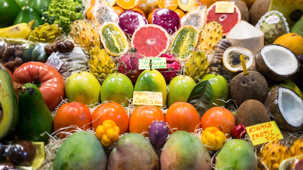 Detalle de un puesto del Mercado de Vegueta