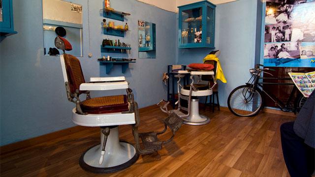 Museo vivo de antigua barbería (lebendige Museen). Foto de Proyecto La Aldea