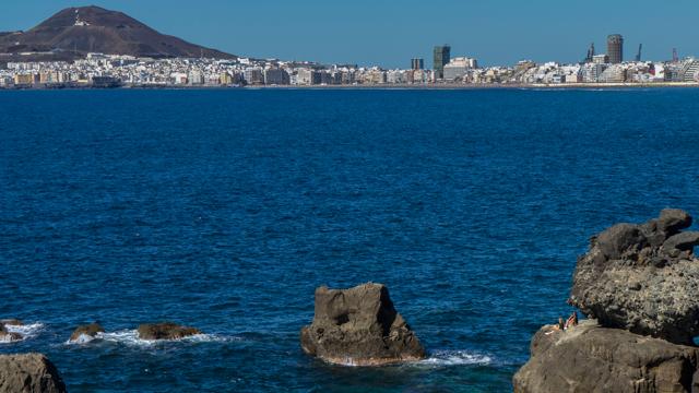 Las Canteras vista desde el Rincón