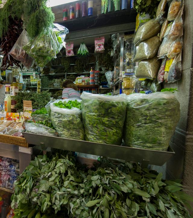 Detalle de un pueto en el Mercado de Vegueta