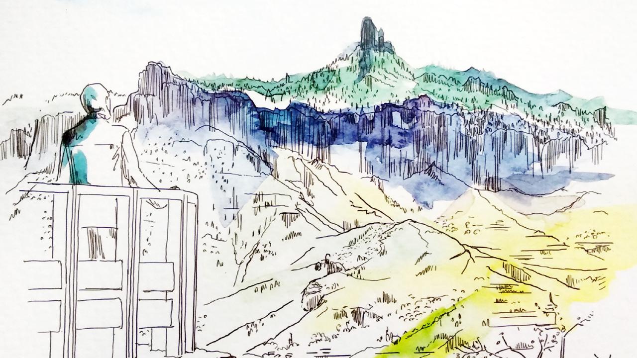 Ilustración del Mirador de Unamuno