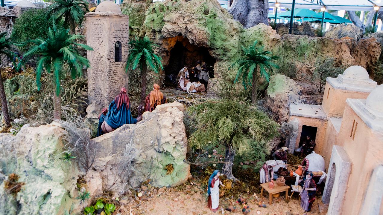 Nativity scene. Parque de San Telmo