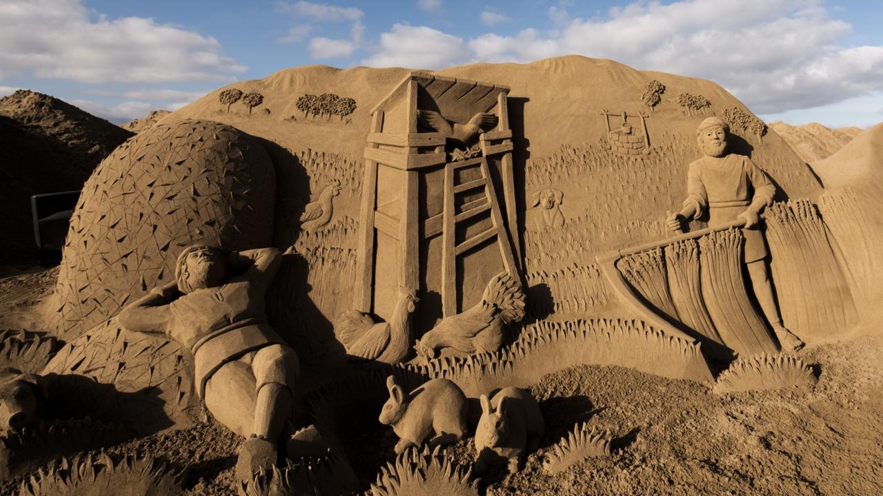 The Las Canteras Sand Nativity Scene