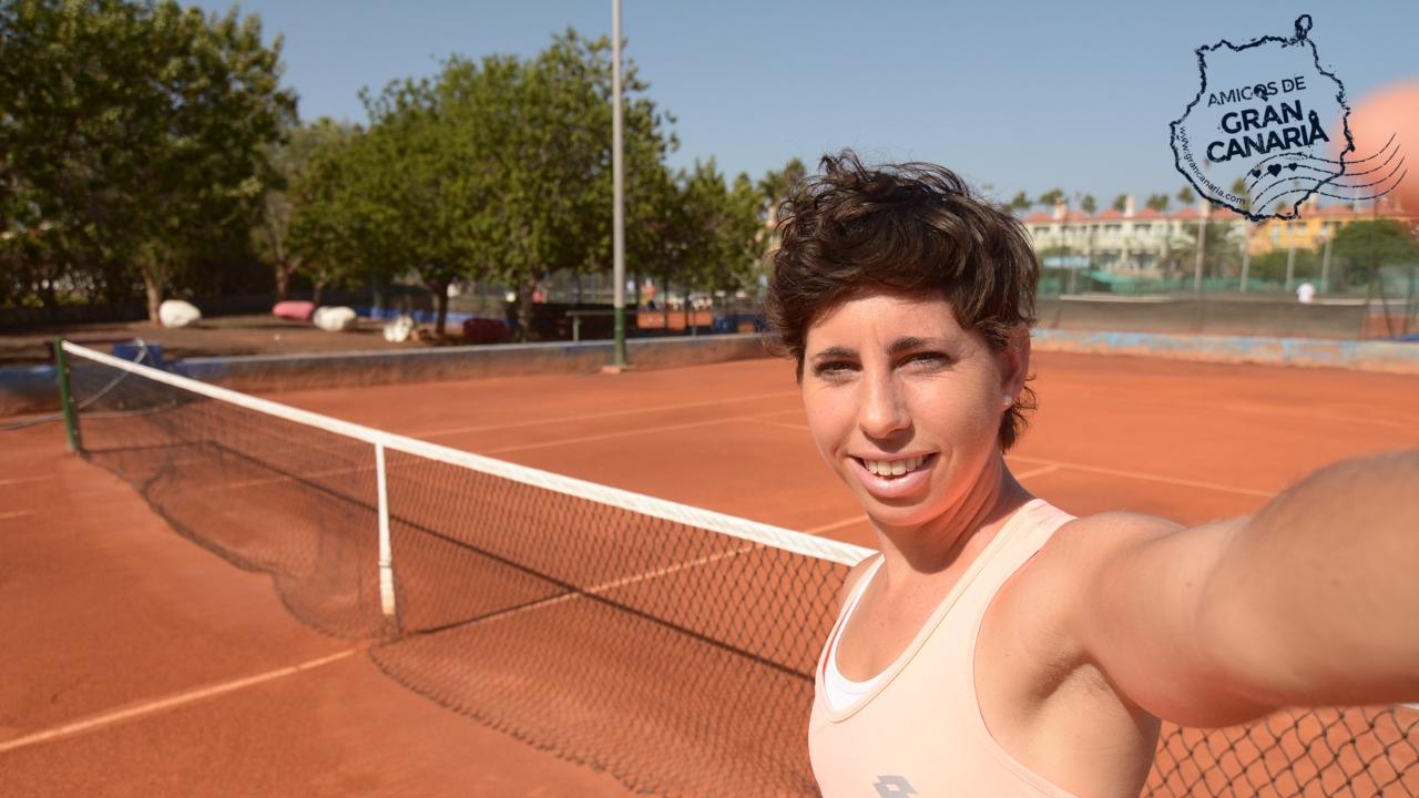 La tenista Carla Suárez en Gran Canaria