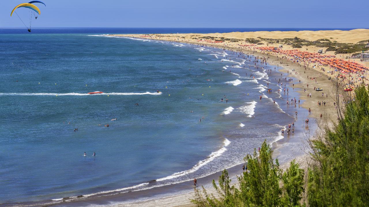 Playa del Inglés, in the municipality of San Bartolomé de Tirajana