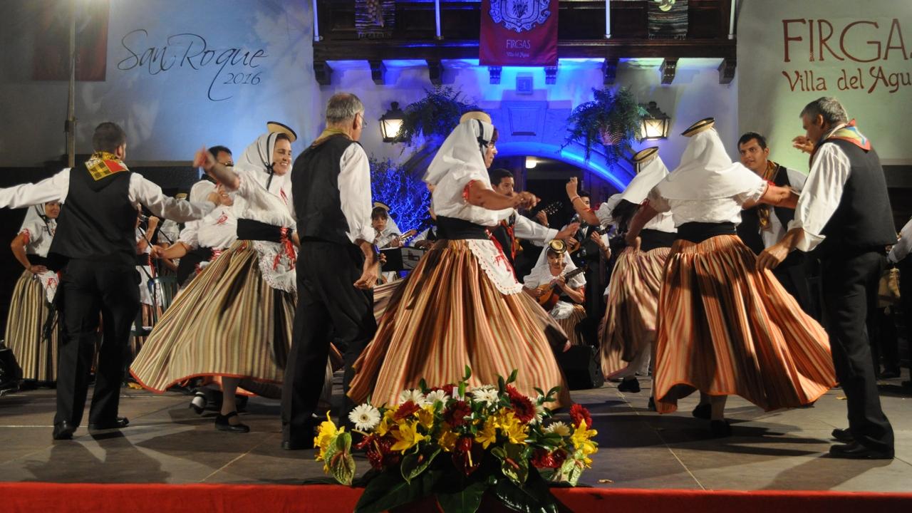 Folkloretreffen in der Marktstadt Firgas, Gran Canaria