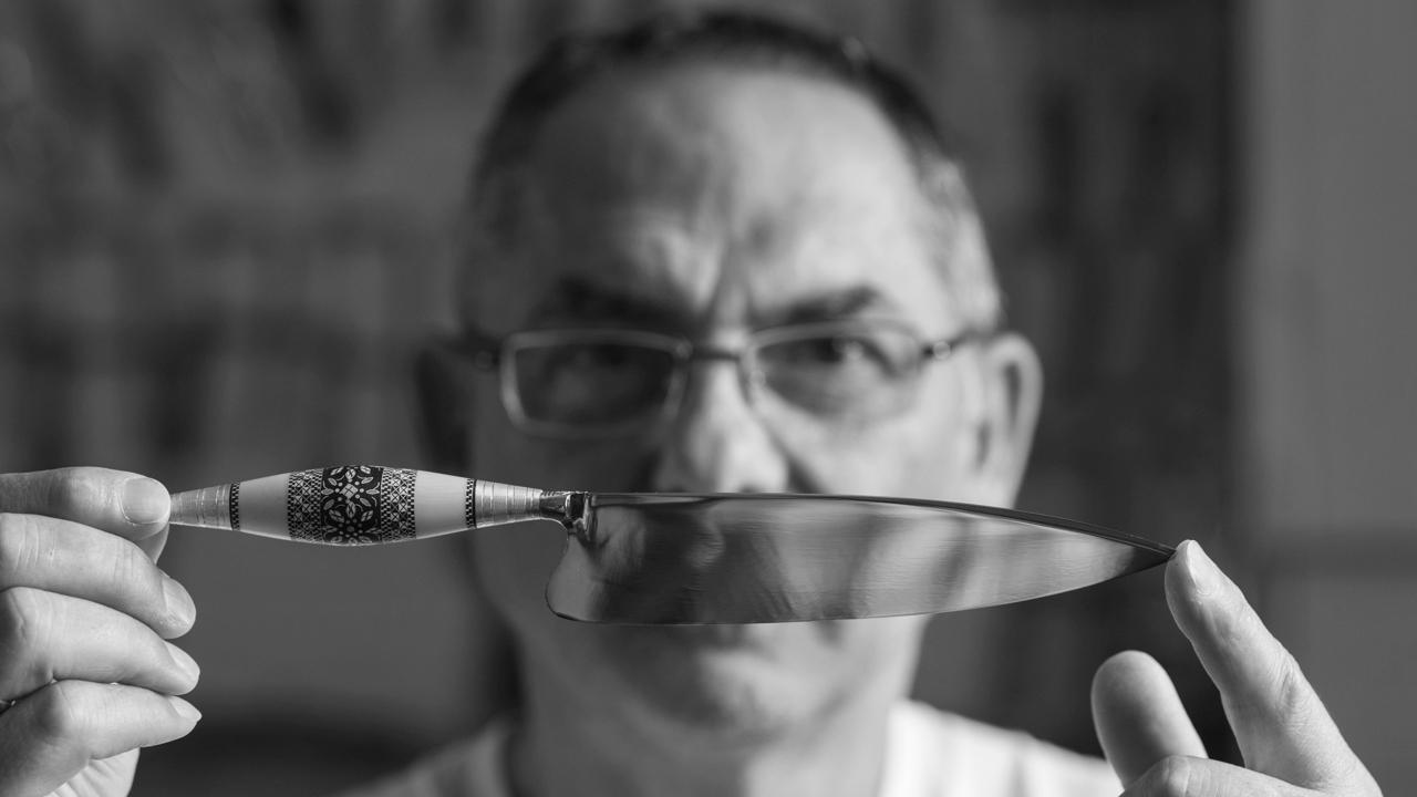 Francisco Torres, artesano del cuchillo canario