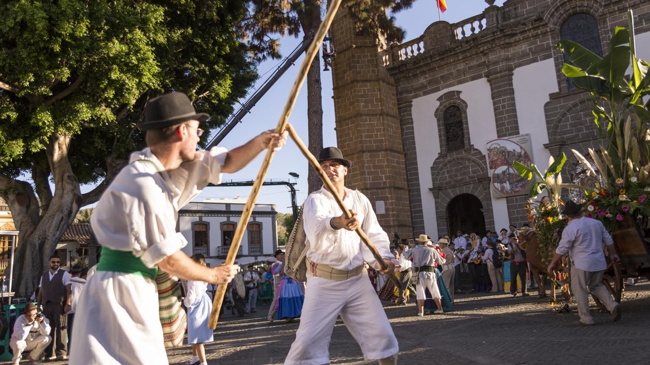 "Feier der ""Fiesta del Pino"" in Teror, Gran Canaria"