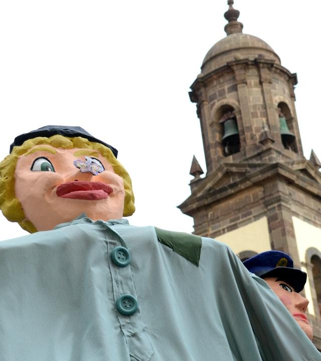 Papagüevos en las Fiestas de la Virgen en Santa María de Guía