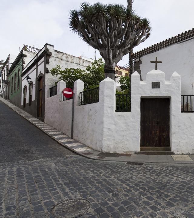 Calle en la que se localiza el Hotel Emblemático Arucas