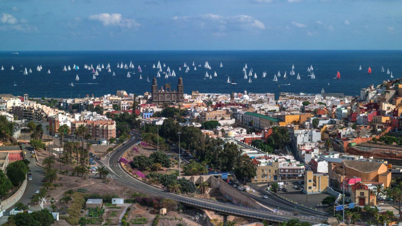 Vista de parte de la ciudad de Las Palmas de Gran Canaria