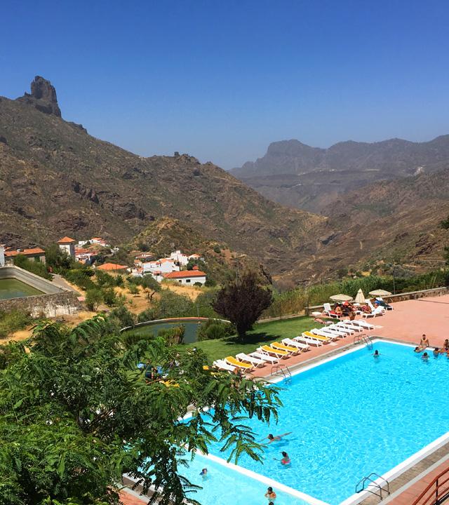 Piscina de Tejeda, en Gran Canaria