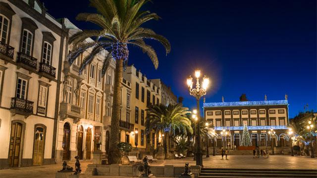 Plaza de Santa Ana en Navidad