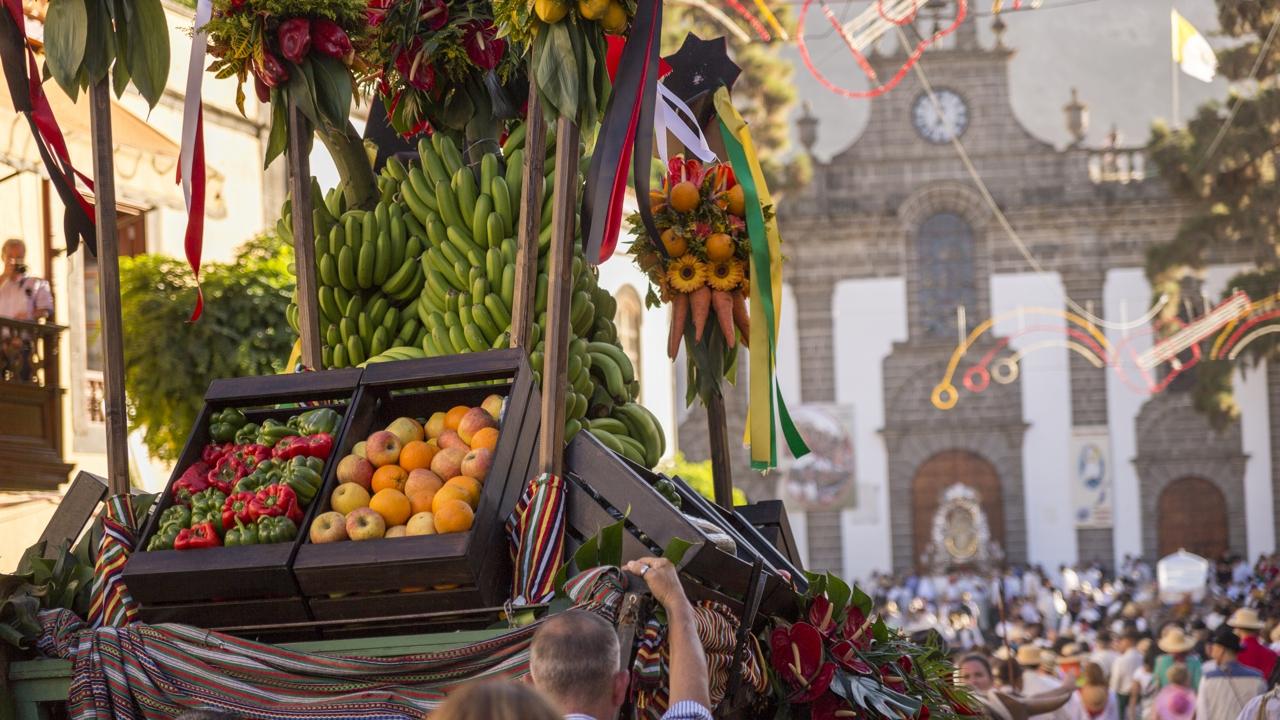 Romería Ofrenda a nuestra Señora la Virgen del Pino, en Teror