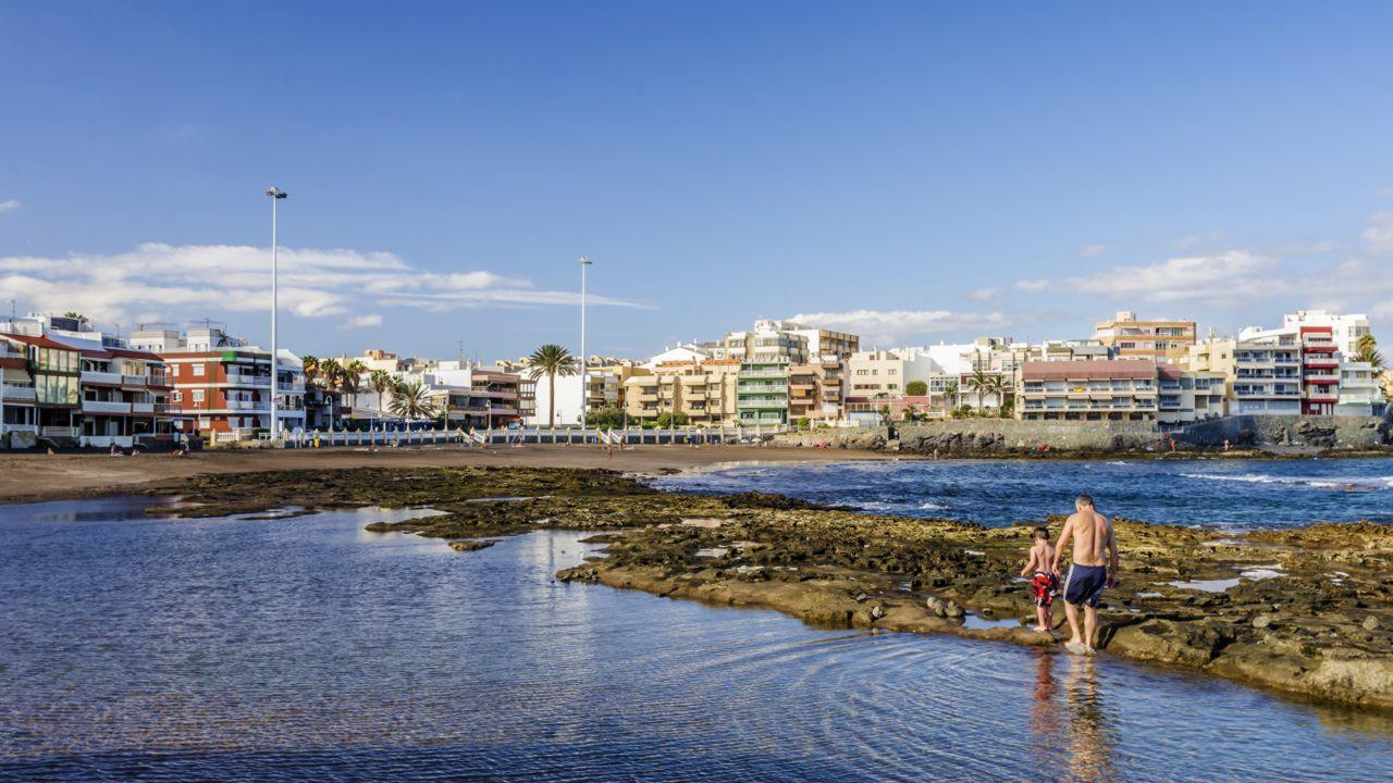 Playa de Salinetas en el municipio de Telde