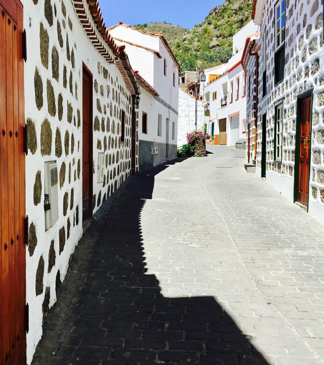 Calle del pueblo de Tejeda, en Gran Canaria