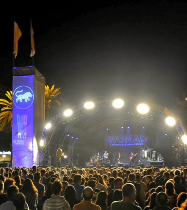 Ankündigung des Womad-Festivals 2017 auf Gran Canaria