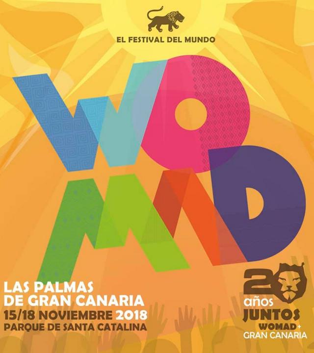 Cartel del WOMAD de Las Palmas de Gran Canaria
