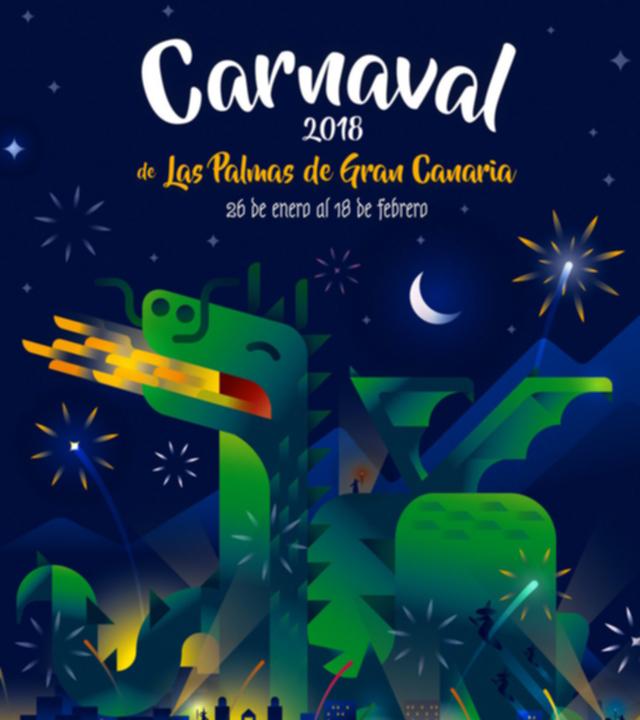 Cartel del Carnaval de Las Palmas de Gran Canaria 2018