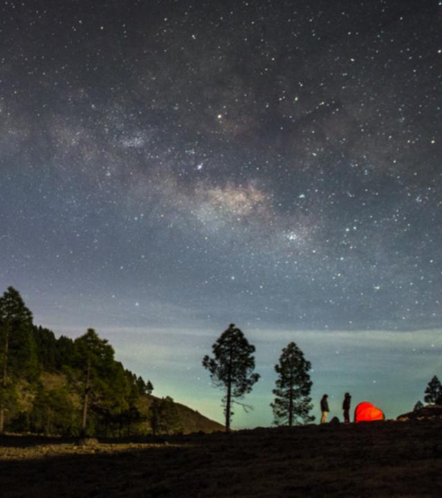 Beobachtung der Sterne von Gran Canaria aus