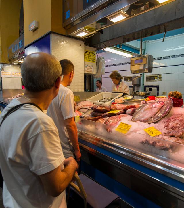 Pescadería en el Mercado de Vegueta