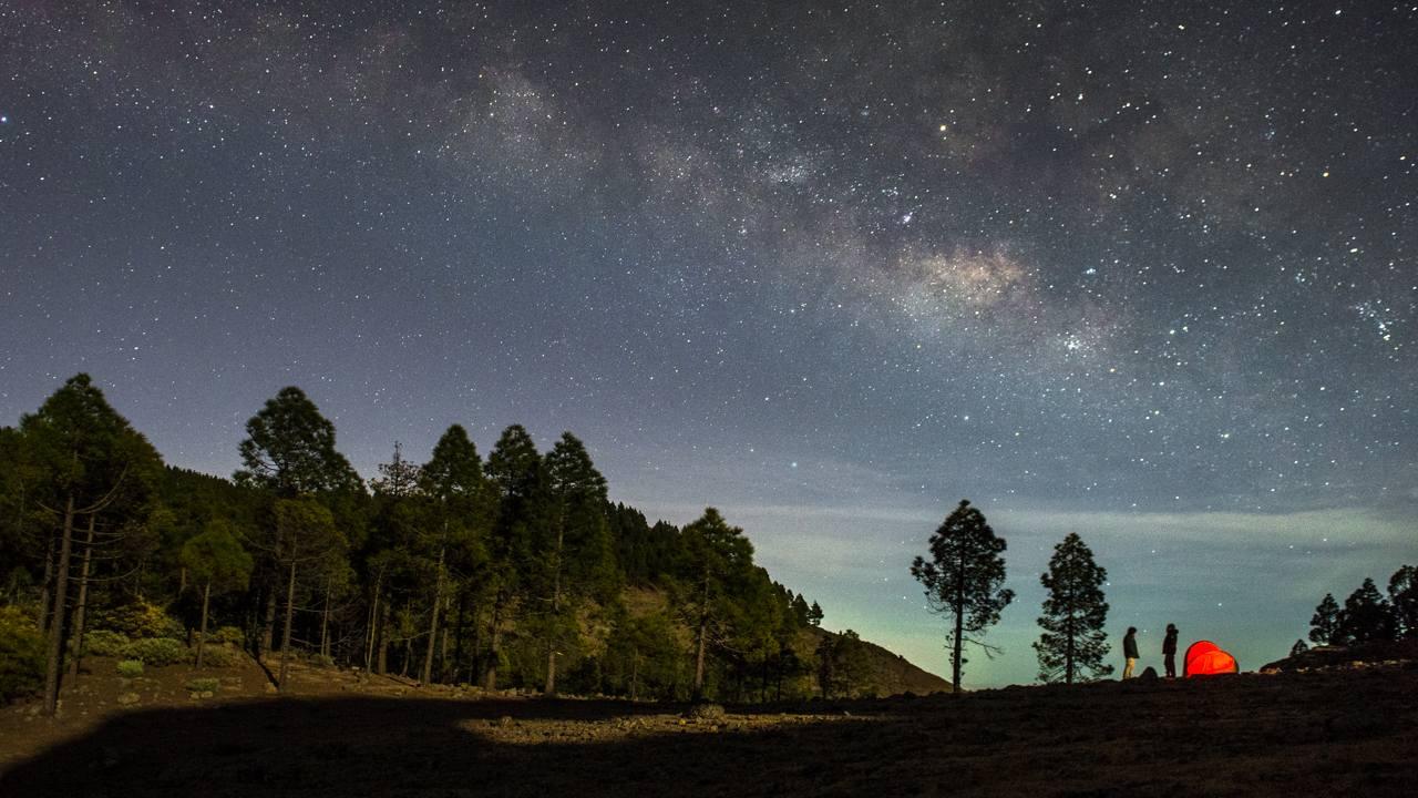 Cielos estrellados vistos desde el Cortijo de Pargana en Gran Canaria