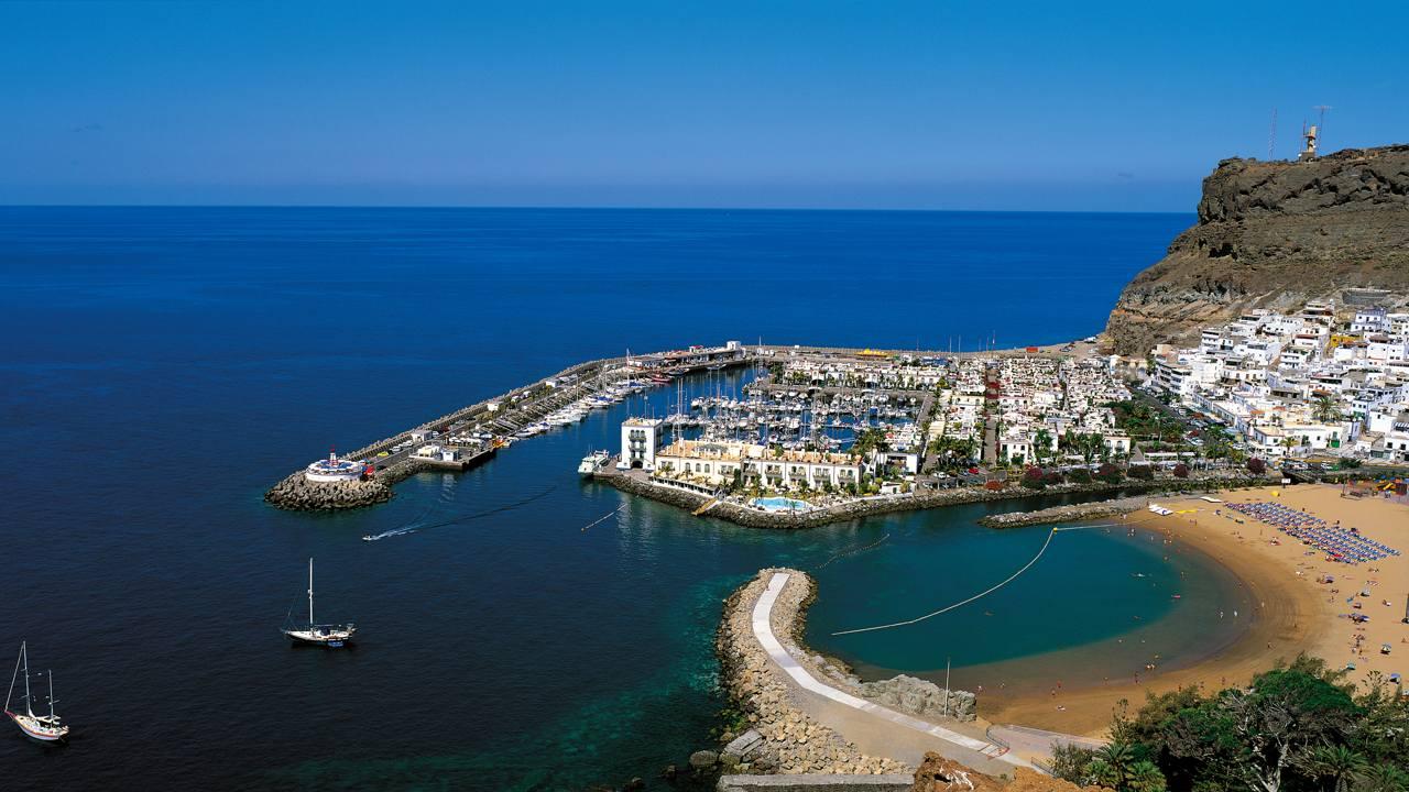Playa de Mogán, en la isla de Gran Canaria