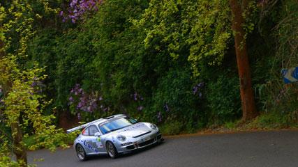 Tramo del Rally Islas Canarias, en una edición anterior de la carrera. En Gran Canaria