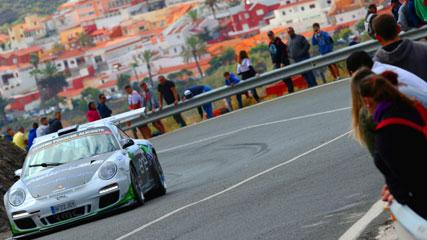 Tramo del Rally Islas Canarias, en una edición anterior del evento. En la isla de Gran Canaria