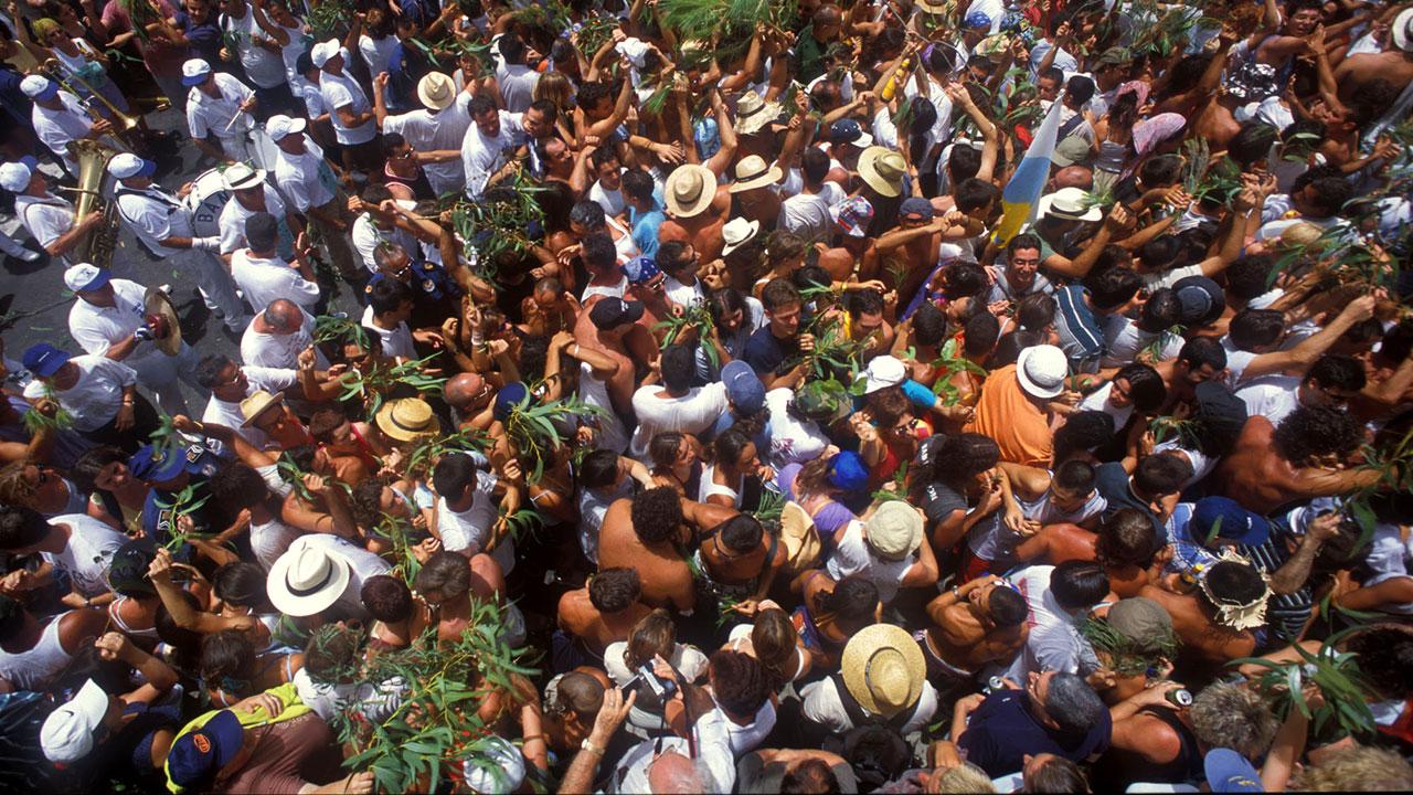 Celebración de la Rama junto a la Banda de Agaete