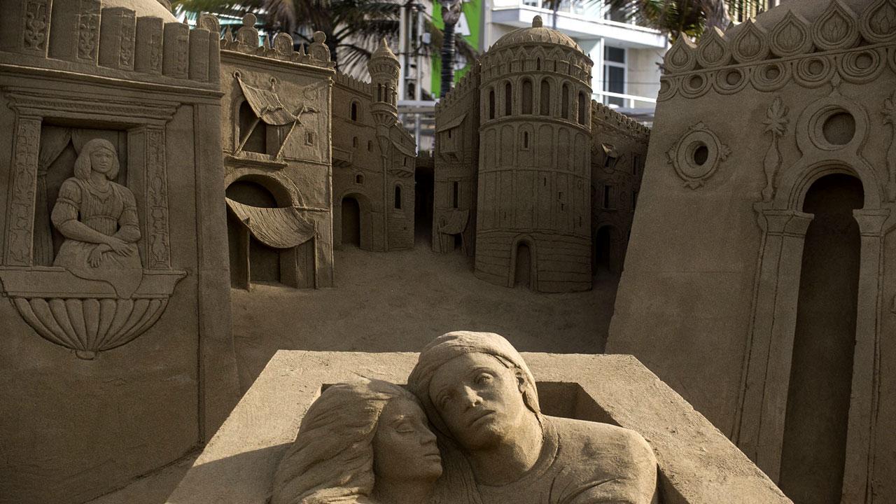 Sand Nativity (Belén de Arena), Las Canteras Beach