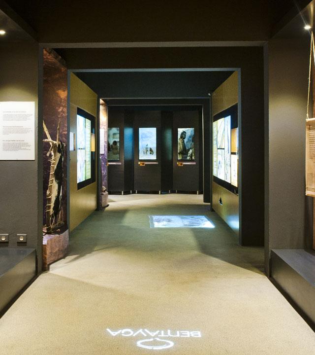 Interior del Centro de Interpretación del Bentayga