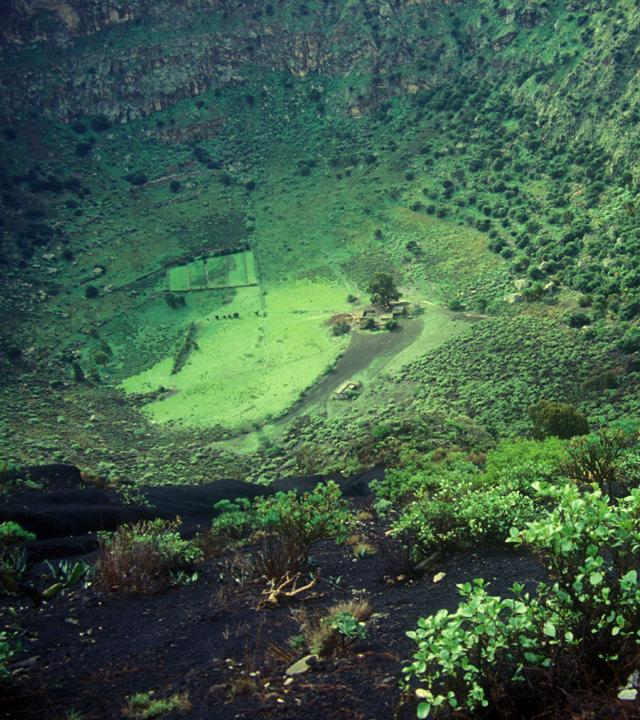 Vista de la Caldera de Bandama, en Gran Canaria