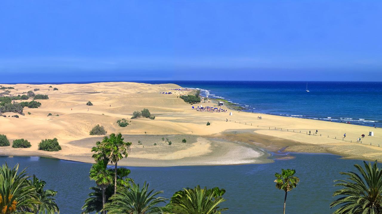 Charca y Playa de Maspalomas