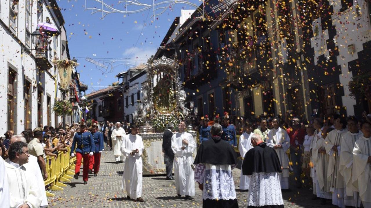 Celebración Día del Pino en Teror, Gran Canaria