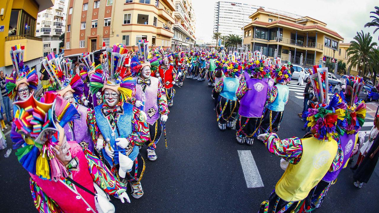 Murga Los Chancletas en la Gran Cabalgata del Carnaval de Las Palmas de Gran Canaria 2015